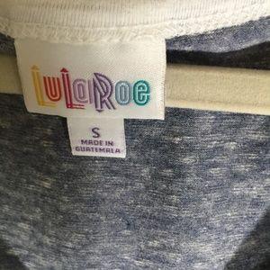 LuLaRoe Dresses - LULAROE S Nicole Gray Dress White Accents Midi